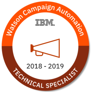 IBM Watson Campaign Automation - Technical Specialist Badge